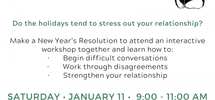 1.11.20: Couples Workshop: What to Do When You Can't Agree