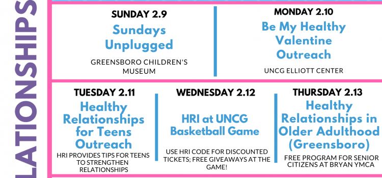 4th Annual Healthy Relationships Week!