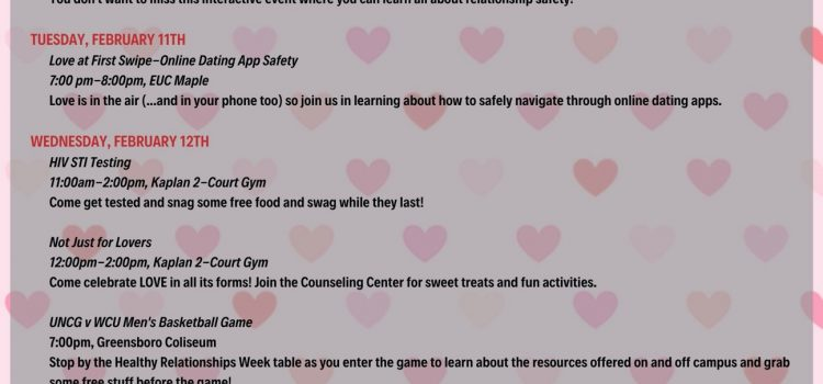 UNCG Healthy Relationships Week