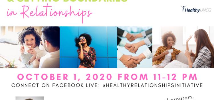 10.1.20 | Building Healthy Communication & Setting Boundaries