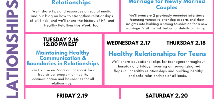 5th Annual Healthy Relationships Week